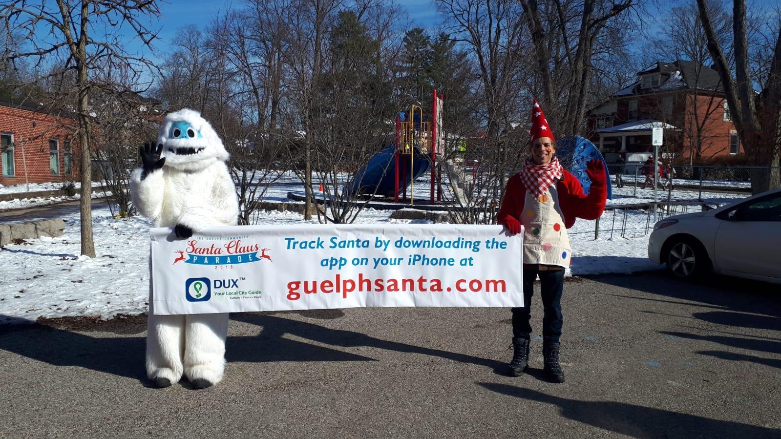 Track Santa, Banner